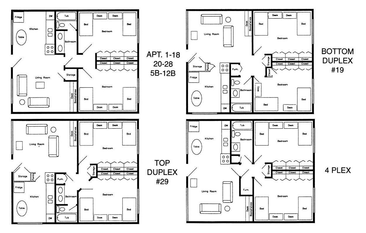Floor Plans – The Brittney Apartments
